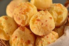 Golden cheese bread balls Royalty Free Stock Image