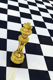 Golden Chess King Stock Photography