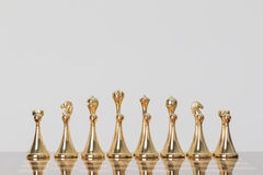 Golden chess Royalty Free Stock Images