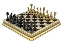 Golden chess set Stock Photography