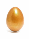 Golden chicken easter egg Stock Photo