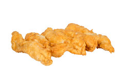Golden chicken strips. Royalty Free Stock Photography