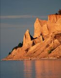 golden Chimney bluffs Royalty Free Stock Photography