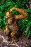 Golden Chimpanzee Statue Stock Images