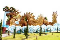Golden china dragon Stock Photos