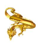 Golden Chinese Dragon - 1 Stock Image