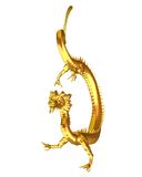 Golden Chinese Dragon - 2 Royalty Free Stock Images