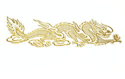 Golden Chinese dragon Stock Photos