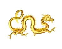 Golden Chinese Dragon - 3 Royalty Free Stock Photo