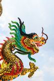 Golden Chinese Dragon Stock Photography