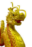 Golden Chinese dragon on isolate background Royalty Free Stock Image