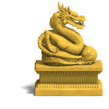 Golden chinese dragon statue Stock Images