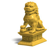 Golden chinese foo dog Royalty Free Stock Photo
