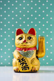 Golden chinese lucky cat Stock Photo