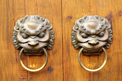 Golden Chinese Old Door Stock Photography