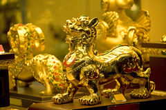 Golden Chinese Ornaments Stock Images