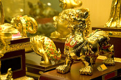 Golden Chinese Ornaments Royalty Free Stock Photos