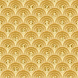 Golden Chinese Seamless Pattern_eps Royalty Free Stock Image