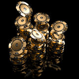 Golden chip casino Royalty Free Stock Image