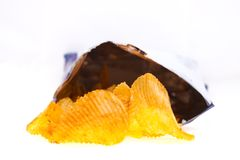 Golden chips Stock Images
