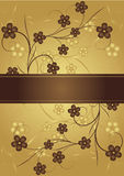 Golden and chocolate. Frame for text. Vector Stock Photo