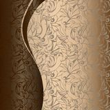Golden with chocolate background. For coffee shop, Solarium, cafe Stock Images