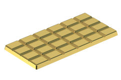 Golden chocolate bar Royalty Free Stock Images