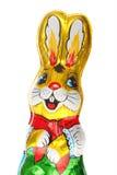 Golden chocolate Easter bunny stock photos