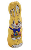 Golden chocolate easter bunny Royalty Free Stock Photography