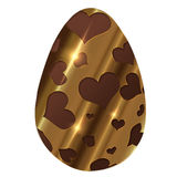 Golden Chocolate easter egg Royalty Free Stock Image