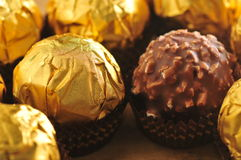Golden Chocolate Stock Photos