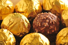 Golden Chocolate Royalty Free Stock Image