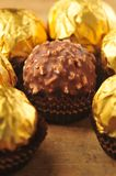 Golden Chocolate Stock Image
