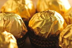 Golden Chocolate Stock Photography