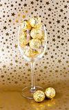 chocolates in glass Royalty Free Stock Photo