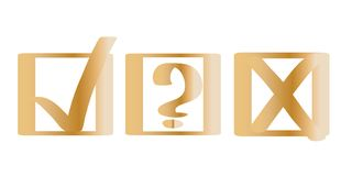 Golden Choice Marks vector illustration