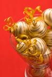 Golden christams ball Stock Photos
