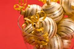 Golden christams ball Royalty Free Stock Photo