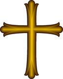 Golden Christian Cross Royalty Free Stock Photo