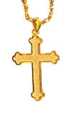 Golden christian crosses Royalty Free Stock Images