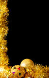 Golden christmas. A background with a christmas theme space available for text Stock Photos