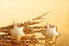 Golden christmas Royalty Free Stock Images