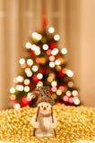 Golden christmas stock image