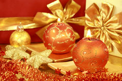 Golden Christmas Royalty Free Stock Photography