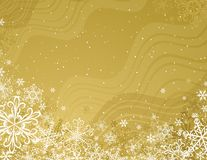 Golden christmas background,  Royalty Free Stock Photo