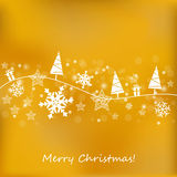 Golden Christmas Background Stock Image