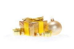 Golden Christmas background Royalty Free Stock Photos