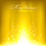 Golden christmas background. Royalty Free Stock Photo