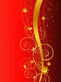 Golden Christmas background. On white Royalty Free Stock Photos