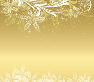 Golden christmas background royalty free illustration